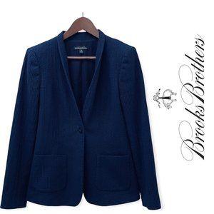 Brooks Brothers navy cotton blazer 10